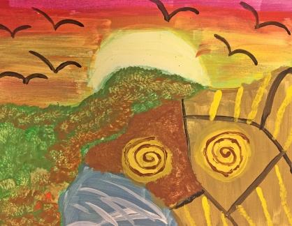 Paint on Canvas by Lisa Bernard